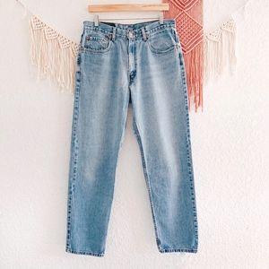 Levi's 550 Light Wash Plus High Waist Mom Jeans